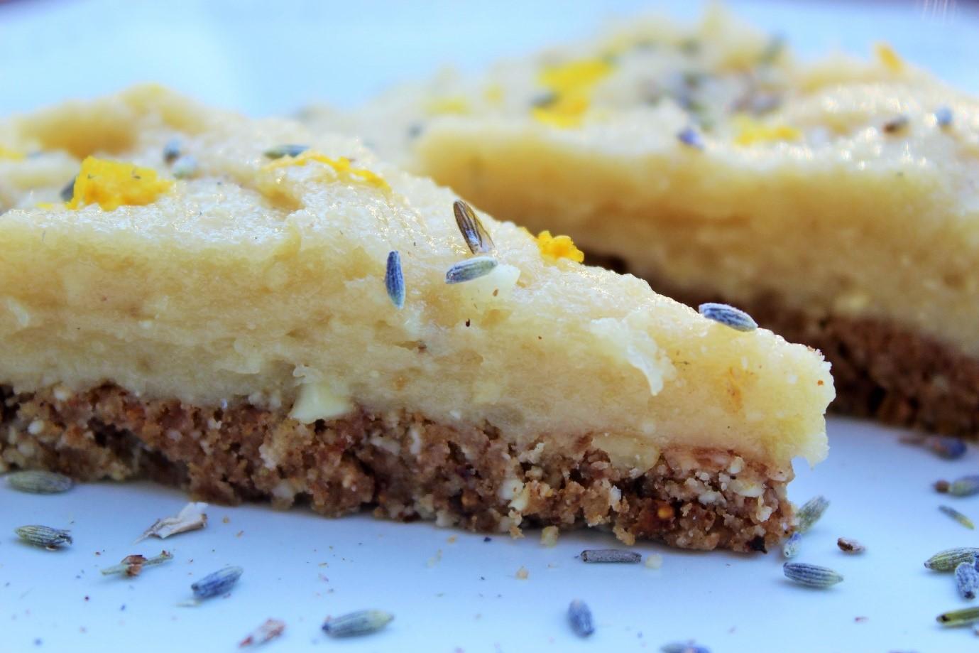 Raw Lavender Lemon Cake